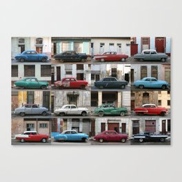 Cuba Cars - Horizontal Canvas Print