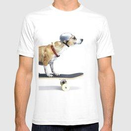 Skate Punk - Skateboarding Chihuahua Dog inTiny Helmet T-shirt