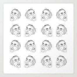 Nicolas Cage Tiles Art Print
