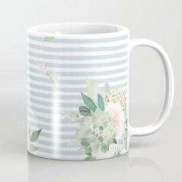 Floral stripes Coffee Mug