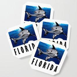 Florida Shark in Deep Blue Coaster