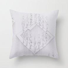 Whiteout II Throw Pillow