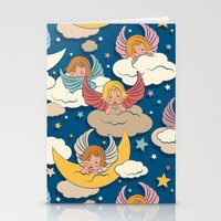 angels Stationery Cards featuring Angels by Helene Michau
