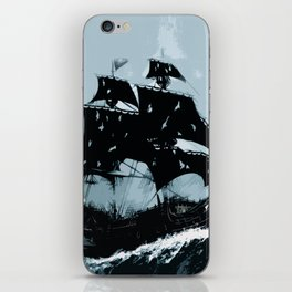 Pirate in Storm iPhone Skin