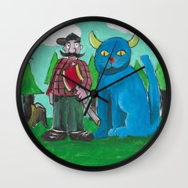 Minnesota Cat Wall Clock