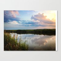 north carolina Canvas Prints featuring North Carolina by WinnieWorks