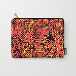 Abstract 8BIT Pattern Carry-All Pouch