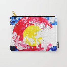 Colorado Watercolor Flag Carry-All Pouch