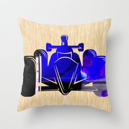 Formula Race Car Throw Pillow