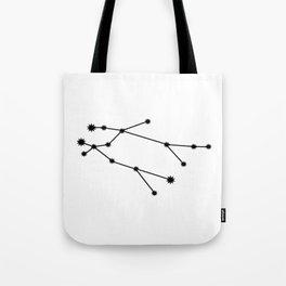 Gemini Star Sign Black & White Tote Bag