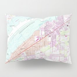 Vintage Map of Fort Myers Florida (1958) Pillow Sham