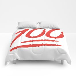 Keep It 100 One Hundred Funny sayings quotes Comforters