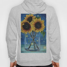 Lightning Bugs and Sunflowers Hoody