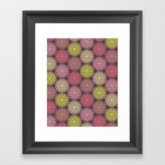 PAISLEYSCOPE flower Framed Art Print
