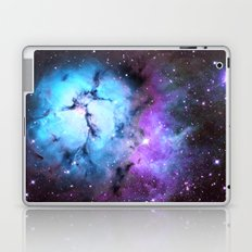 Blue Floral Nebula Laptop & iPad Skin
