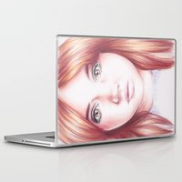 karen hallion Laptop & iPad Skins featuring karen gillan by Jill Schell