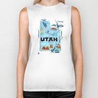 utah Biker Tanks featuring UTAH by Christiane Engel
