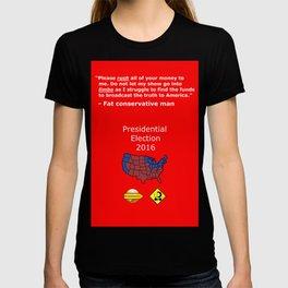 Fat conservative man 2 T-shirt
