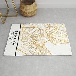 GENEVA SWITZERLAND CITY STREET MAP ART Rug