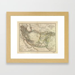 Map of Persia circa 1847 (Afghanistan, Pakistan, Iran) Framed Art Print