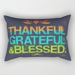Thankful, Grateful & Blessed HEART Rectangular Pillow