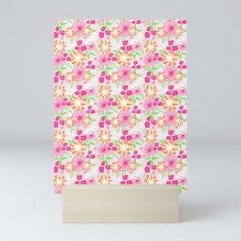 20 Tropical Flower Collection Mini Art Print