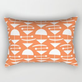 Retro Mid Century Modern Abstract Mobile 653 Orange Rectangular Pillow