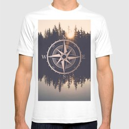 Rose Gold Compass Forest T-shirt