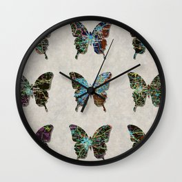 butterfly collection usa o2 Wall Clock