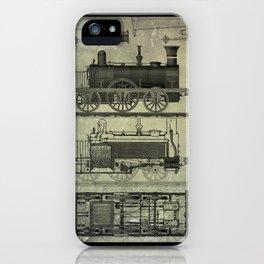 Vintage Train Design iPhone Case