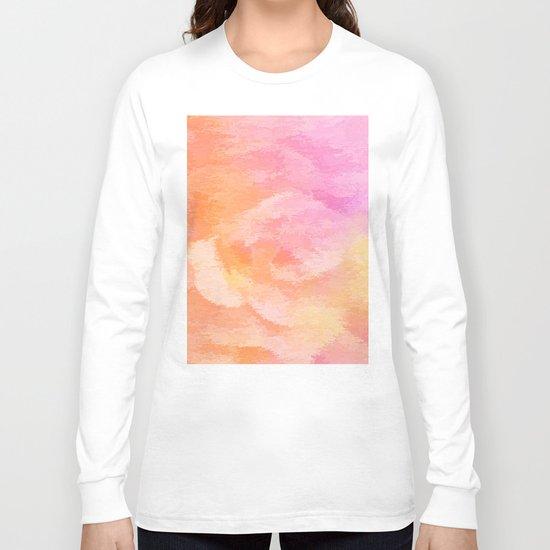 Soft Pastel Floral Blend Long Sleeve T-shirt