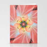 cherry blossom Stationery Cards featuring Cherry Blossom by Christine baessler