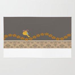 Scrap Yellow Bird Rug