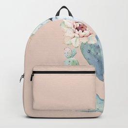 Desert Rose Cactus Pink Backpack