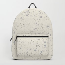 Chaotic circles pattern. Cream. Backpack