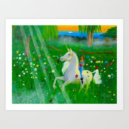 Bizet's Unicorn Art Print
