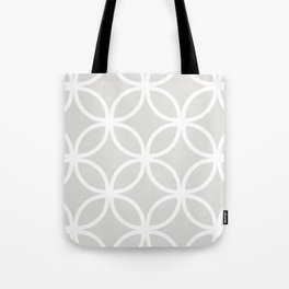Gray Geometric Circles Tote Bag