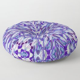 Purple and White Spray Pattern Floor Pillow