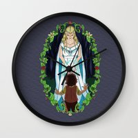 valar morghulis Wall Clocks featuring The Light of Eärendil by Theresa Lammon