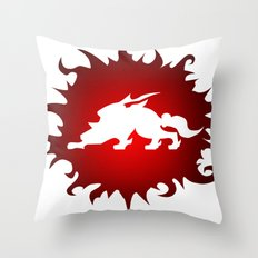 Amaterasu Logo- White Throw Pillow