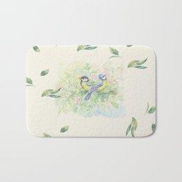 Little Birds & Leaves Bath Mat