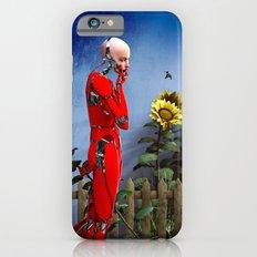 Red Robot visits the Sunflower Garden iPhone 6s Slim Case