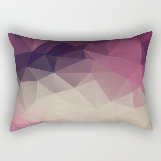Polygon pattern . Triangles with a texture craquelure . Rectangular Pillow