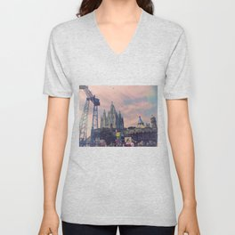 Carnivals and Colors and Castles and Churches Unisex V-Neck
