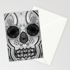 White skull Stationery Cards