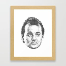 Bill Murray Groundhog Day Meta Portrait  Framed Art Print