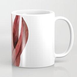 Red Tropical Leaves Coffee Mug