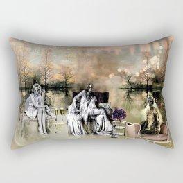 Mystical Vintage Visions of Manhattan Rectangular Pillow