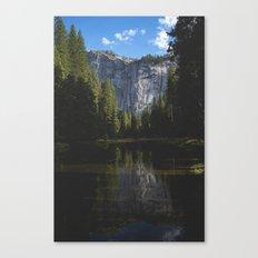 Yosemite National Park - Reflection of Mountains Canvas Print
