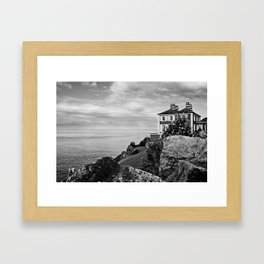 Home on the Irish Coast in Howth Ireland Framed Art Print